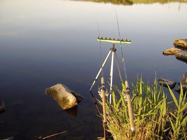 ловля рыбы на фидер на озере видео