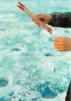 Зимняя ловля байкальских омулей