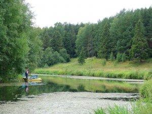 Ловля на реке Покша