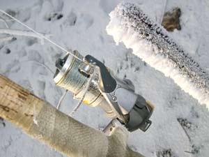 Зимняя ловля летней удочкой