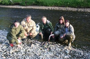 Ловля на реке Лопсия
