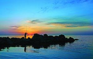 Рыбная охота на Каспийском море