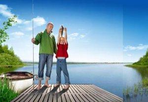 Тува. Рыбная ловля