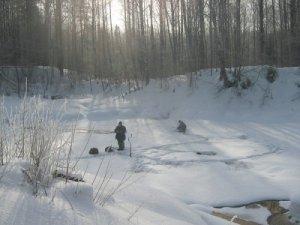 Как выбрать место во время зимней рыбалки