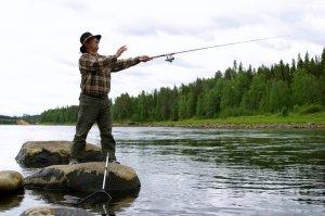 Рыбалка во время летнего отпуска